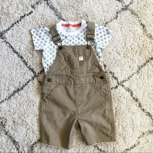 🛍2 for $20 🛍 Carter's 24M overall shorts w/shirt